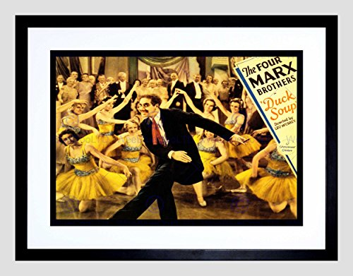(MOVIE FILM DUCK SOUP MARX BROTHERS COMEDY MUSICAL GROUCHO FRAMED PRINT B12X5479)