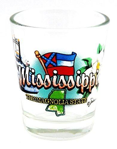 Mississippi Magnolia State Elements Shot Glass