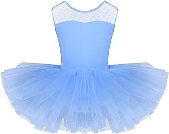 iiniim Maillot Ni/ña Mariposa Ballet Danza Gimnasia Tut/ú Leotardo Princesa Infantil Algod/ón Falda Gasa Baile Mangas Largas Cl/ásico El/ástico Dancewear para Ni/ñas Chicas