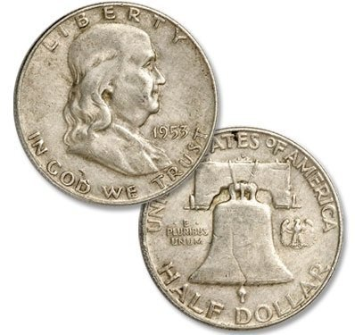 Average Circulated Franklin Half Dollar