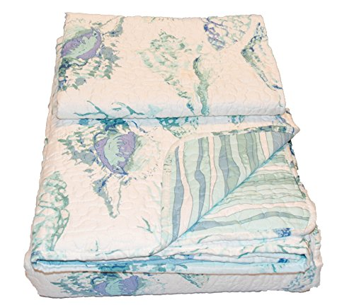 Cozy Bed QLT-Poly-FQ-Cambpell Shells Quilt Sets, (Everything Nautical)