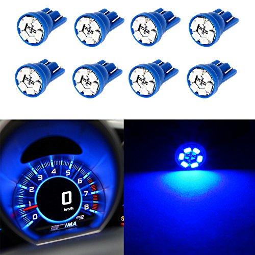 Partsam 8PCS T10 194 168 W5W 2825 Wedge Instrumental Panel LED Light Gauge Cluster Dash Indicator Bulbs, Blue (Ford Ranger Gauge Led compare prices)