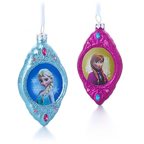 elsa and anna ornaments set of 2 - Frozen Christmas Tree Ornaments