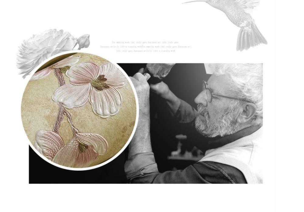 JXArt Rullo di Carta da Parati in Tessuto Non Tessuto di Microfibra 3D Rilievo Stile Contemporaneo,10x0.53m Country Vintage AB con Bronze A