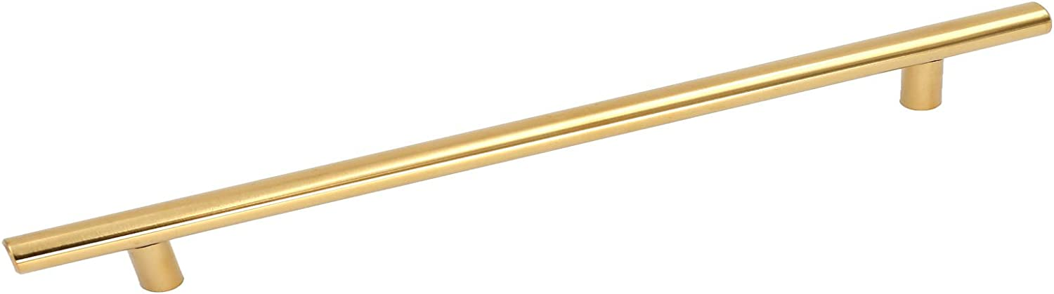 Peaha PH201PB224 Polished Brass Kitchen Cabinet Handles and Knobs Stainless Steel 8-4//5inch Hole Centers 10Pack Gold Drawer Pulls Door Hardware