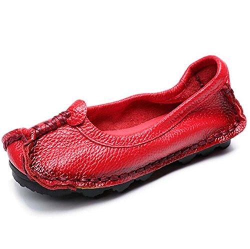 nazionali autunno basse Rosso Taglia da originali 35 da Scarpe fatte Scarpe da donna mano in Primavera SHINIK Scarpe Scarpe 41 e vento pelle donna a RSEq5wnvCx