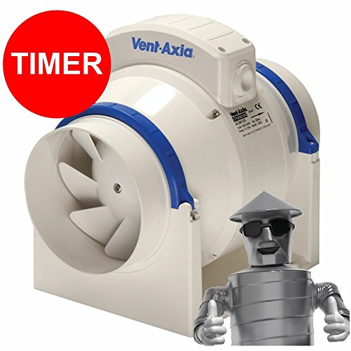 Vent Axia ACM100 In-Line Mixed Flow Extractor Fan Unit