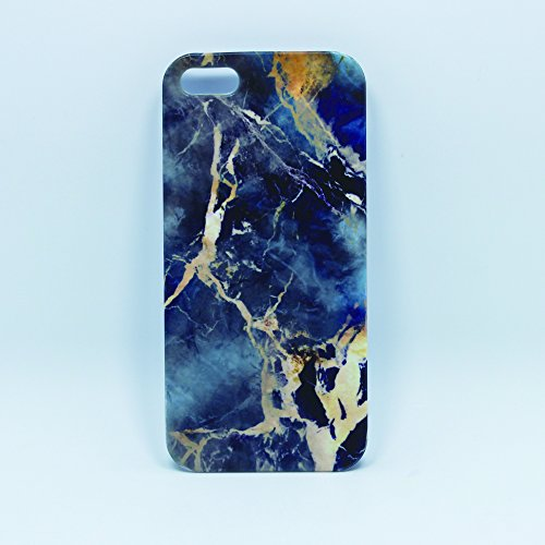 Deep Blue Grey Marble Stone Texture Pattern Iphone SE/5S Matte Case, Customizable Iphone 5 - Grey Marble Blue