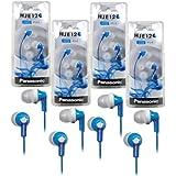 Panasonic RP-HJE120 ErgoFit In-Ear Headphones Stereo Earbuds (4-Pack, Blue) by Panasonic
