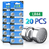 Watches : LiCB 20 Pack LR44 AG13 357 303 SR44 Battery 1.5V Button Coin Cell Batteries