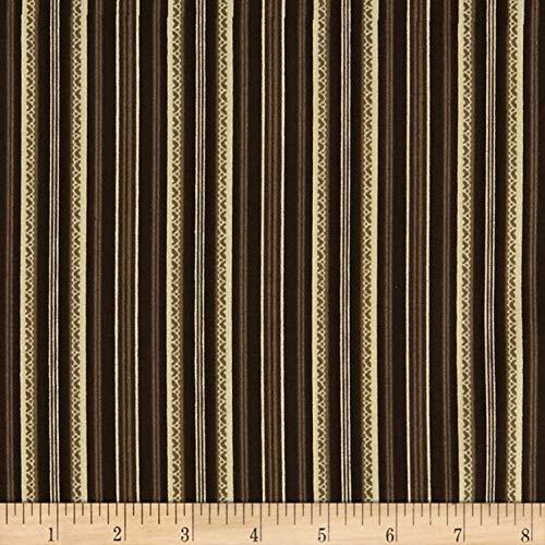 Benartex Stone Cottage Arbor Stripe Licorice, Fabric by the Yard