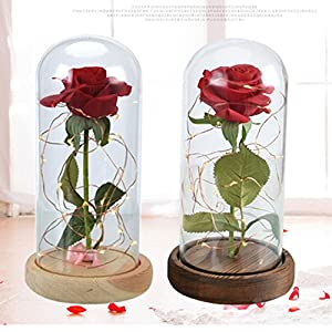 Exiao LED Artificial Rose Flower Romantic Wedding Decoration 96