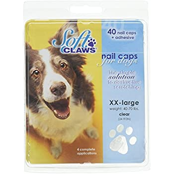 Soft Claws Dog Nail Caps Take Home Kit, XX-Large, Natural