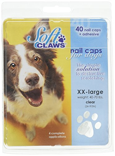 Soft Claws Nail Caps - Soft Claws Dog Nail Caps Take Home Kit, XX-Large, Natural