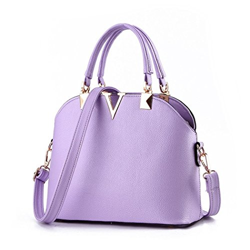 hydne-womens-fashionable-portable-simple-letter-v-zipper-handbagpurple
