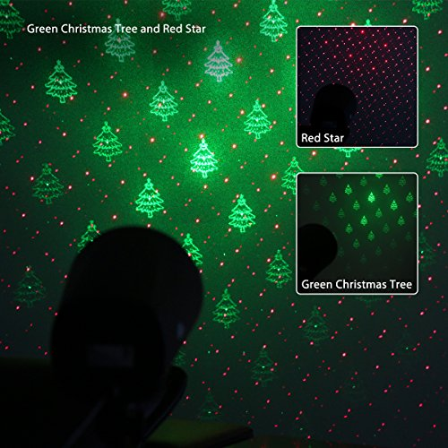 1byone Magical Laser Light With Green Christmas Tree And Red Star Patterns  (Pack Of 1)     Amazon.com