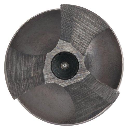 Black Oxide Finish Round Shank Three-Flute Chicago Latrobe 301 High-Speed Steel Core Drill Bit 118 Degree Chamfer Angle 15//32 Size