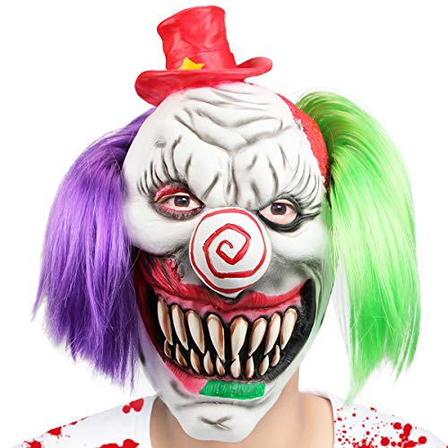 Aiduy Halloween Mask Scary Clown Masks for Adults,