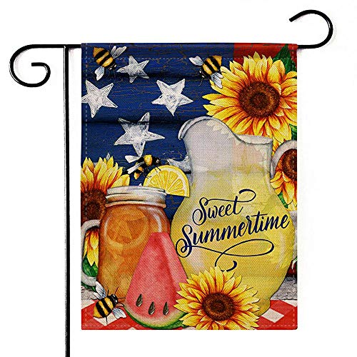 Deloky Summer Time Outdoor Garden Flag - 12
