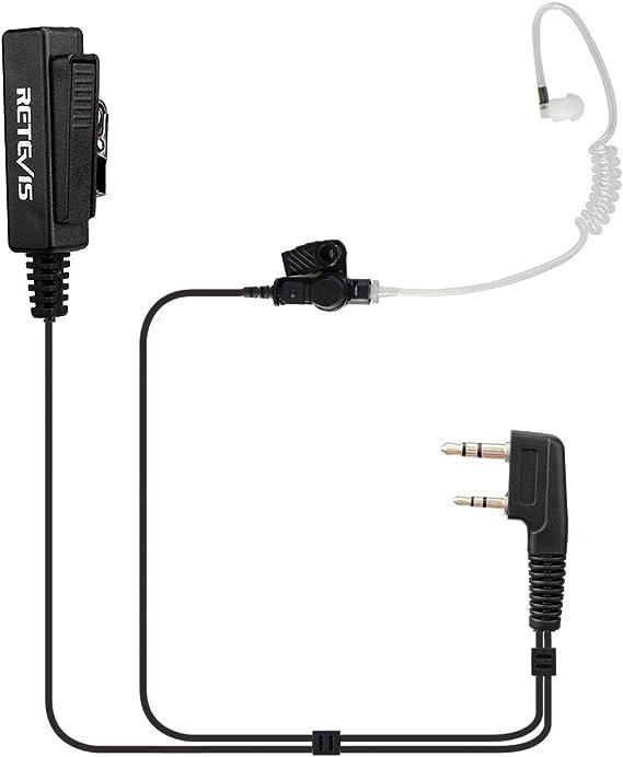 2* 2-pin PTT Speaker Mic For Radio KENWOOD RETEVIS BAOFENG TYT PUXING WOUXUN Hot