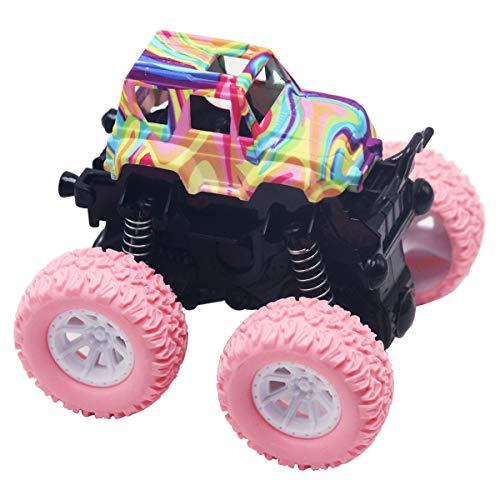 Kyriad Monster Trucks Trucks Toys Inertia Car Toys Friction Powered Cars for Boys Girls Toddler Aged 2 3 4 5 Year Old Gifts for Kids Birthday(Pink) (Girls Monster Trucks Toys)