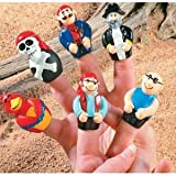 Finger Puppets Toy Pirate Party Favor Cake Topper (24 per package)