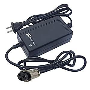New 24V 2A 24 Volt 2 Amp Electric Bike Scooter Battery Charger Replacement With 3 Prong Inline Female Connector For City Express / E-Scoote / Panterra