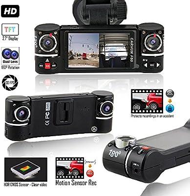 Indigi® en coche Dash Cam cámara DVR Dashboard Digital conducción grabadora de vídeo 720p HD (G-sensor detección de movimiento + grabación en bucle + ...