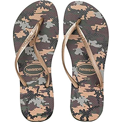 fb23ce223 Havaianas Slim Camuflada Flip Flops Olive Green  Amazon.co.uk  Shoes   Bags