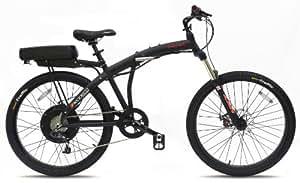 Prodeco  Phantom X2 8 Speed Folding Electric Bicycle, Matte Black, New Model V5 / 26- inch