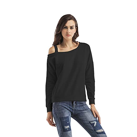 83418ee1bb2ea Image Unavailable. Image not available for. Color  Gyoume Women Cold Shoulder  Tops Long Sleeve Blouse ...