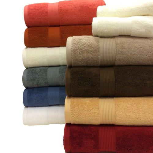 6pc Soft-Gold Cotton Plush Towel Set, Includes 2 bath Plush Towels, 2 hand Plush Towels, and 2 wash cloths