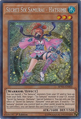 Secret Six Samurai - Hatsume - SPWA-EN003 - Secret Rare - 1st Edition - Spirit Warriors (1st Edition)