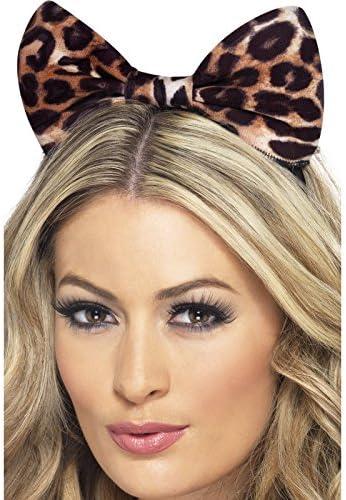 Smiffys-24871 Lazo de guepardo en diadema, color marrón y negro ...