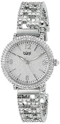 Burgi Women's BUR140SS Swarovski Crystal Filled Silver Bracelet Watch