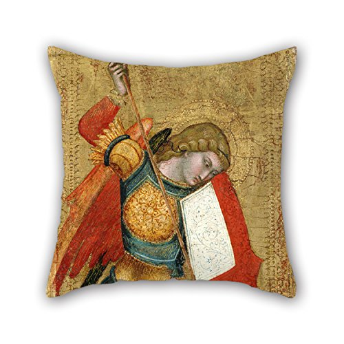 [Loveloveu Oil Painting Sienese School Of The 14th Century - St. Michael And The Dragon Throw Pillow Covers 18 X 18 Inches / 45 By 45 Cm For Lounge,dance Room,deck Chair,saloon,bar,chair With Two] (Diy Sushi Dog Costume)