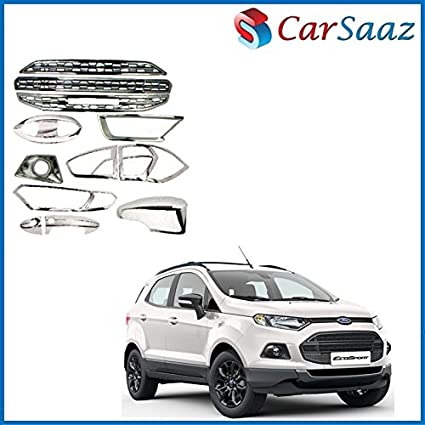 Carsaaz Chrome Accessories Combo Pack For Ford Ecosport Titanium