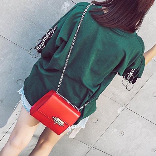 KPHY-Mini Bolsa Edición Coreana Lock Pequeño Paquete Bolso Cadena De Moda PaqueteDe Gules gules