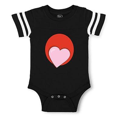 Amazon com: Round Heart Red Light Pink Boys-Girls Cotton