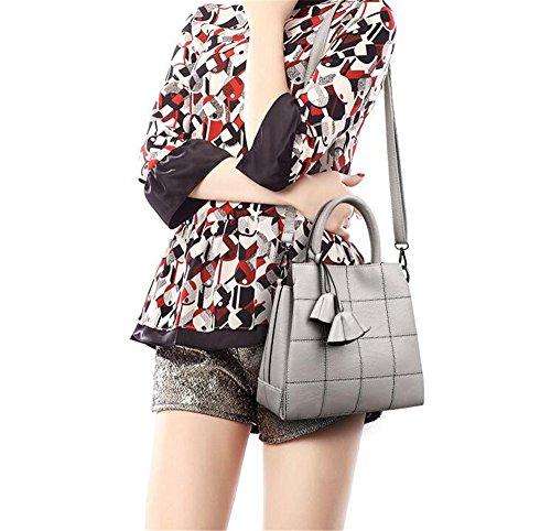 Sjmmbb Bolso Bolso Bolsa De Dama,gris,27x25x13cm. Sjmmbb Handbag Bag Lady, Gray, 27x25x13cm. Gris Gray