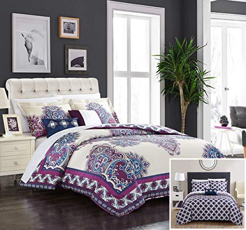 Chic Home 5 Piece Mazal Comforter Set, Queen, - 5 Panel Piece Queen