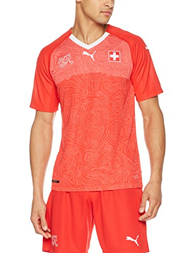 (PUMA 2018-2019 Switzerland Home Football Soccer T-Shirt Jersey)