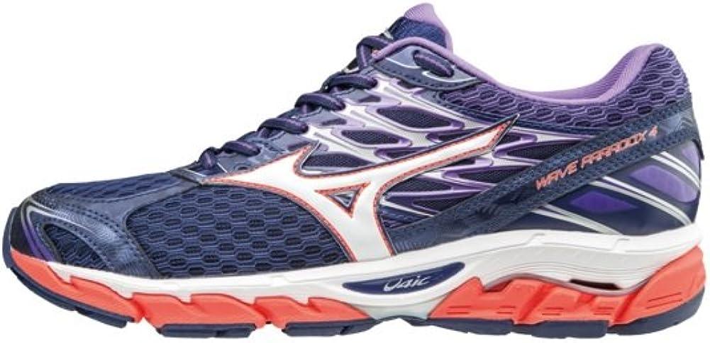 Mizuno Wave Paradox 4 Wos, Zapatillas de Running para Mujer, Multicolor (Patriotblue/White/hotcoral 02), 36.5 EU: Amazon.es: Zapatos y complementos