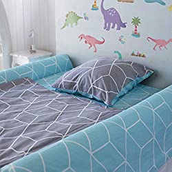[1-Pack] Foam Bed Rails for Toddler | Soft Bed Bumper for Kids, Special Needs, Elderly | Baby Bed Guard | Child Bed Safety Side Rails With Water Resistant Washable Cover