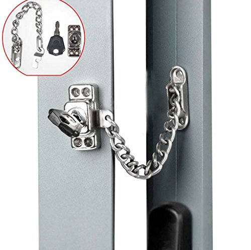 Stainless Steel Window Guard Window Door Restrictor Child Safety Security Chain Lock With Keys Steel Window Guards