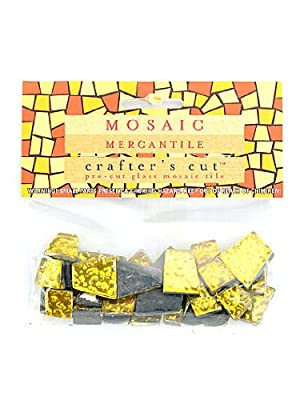 Mosaic Mercantile 1/6-Pound Crafter's Cut, Sparkle Sunglow