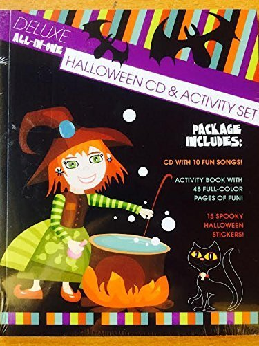 Deluxe all-in-one Halloween CD & Activity Set 48 p Book + 18 Spooky Stickers by VARIOUS (0100-01-01) -