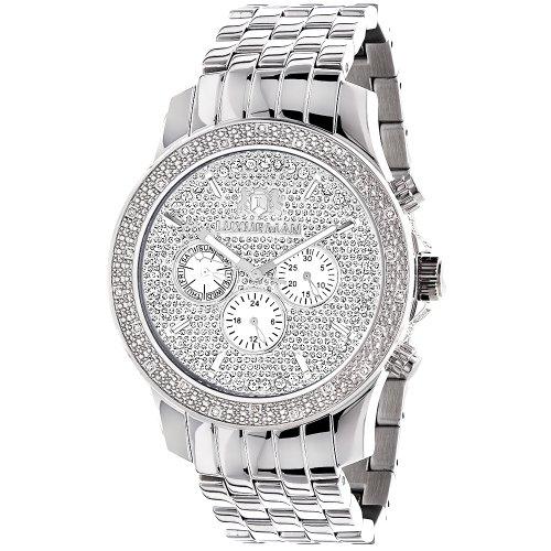 (LUXURMAN Mens Real Diamond Watch 0.25ct)