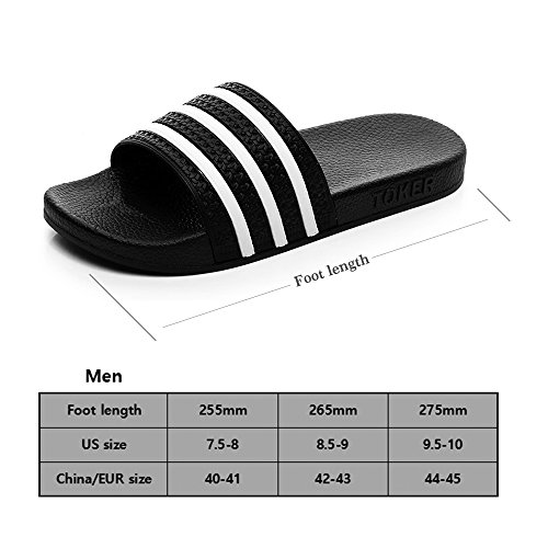 YIXIAN Non House Shoes Women's Slippers Slip Men's Stripe Sandals Slipper Men Bathroom Shower Shamrock rxTqrf