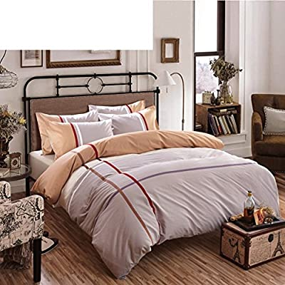 DACHUI Cotton bed sheets - 1800 beds fade, stain resistant - Hypoallergenic - 4 units (single) - The King